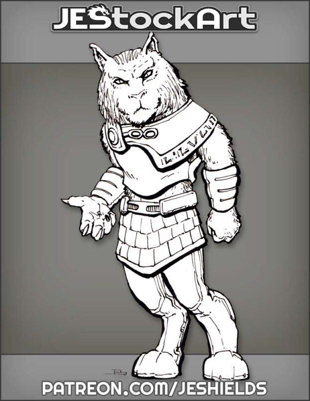 Aslan Feline Humanoid In Kilt by Jeshields