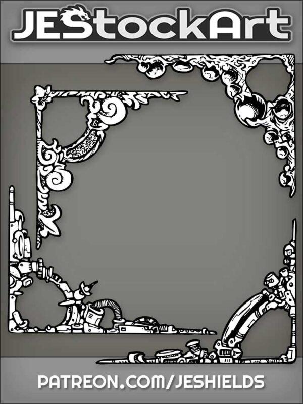 Assorted Corner Frames Misc by Jeshields