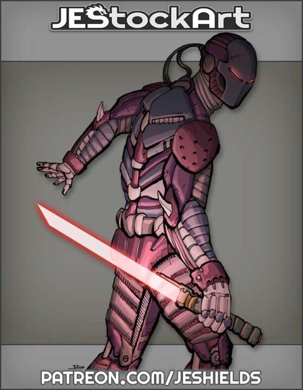 Cyber Ninja with Energy Blade by Jeshields