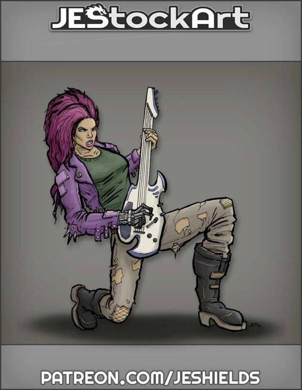 Cybernetic Rock Star with Guitar by Jeshields