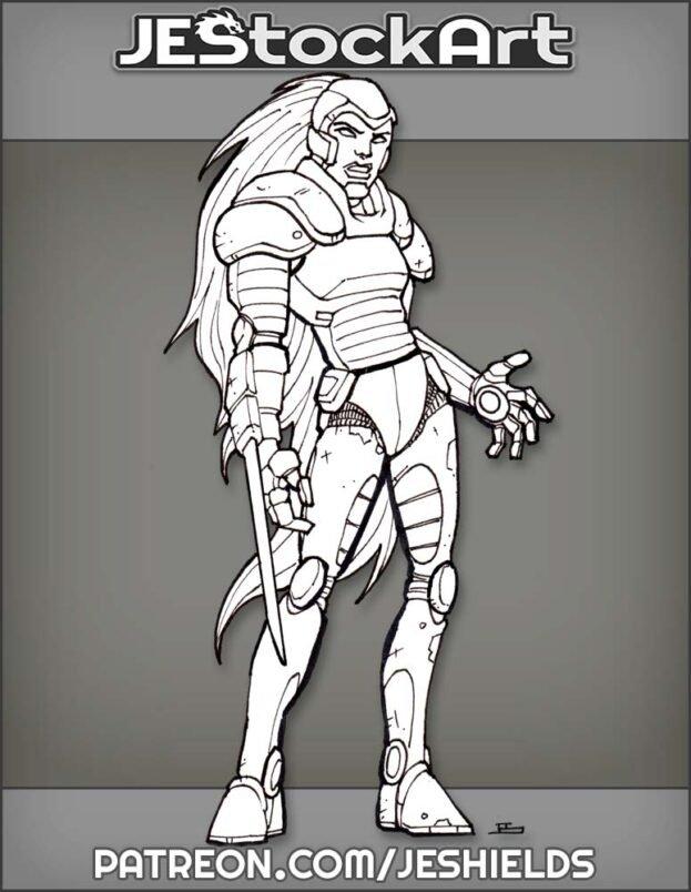 Cyberwoman With Retractable Sword by Jeshields