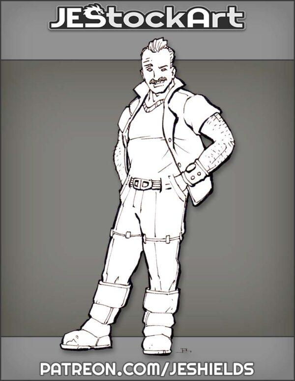 Edgar Engineer With Hawaiian Shirt by Jeshields