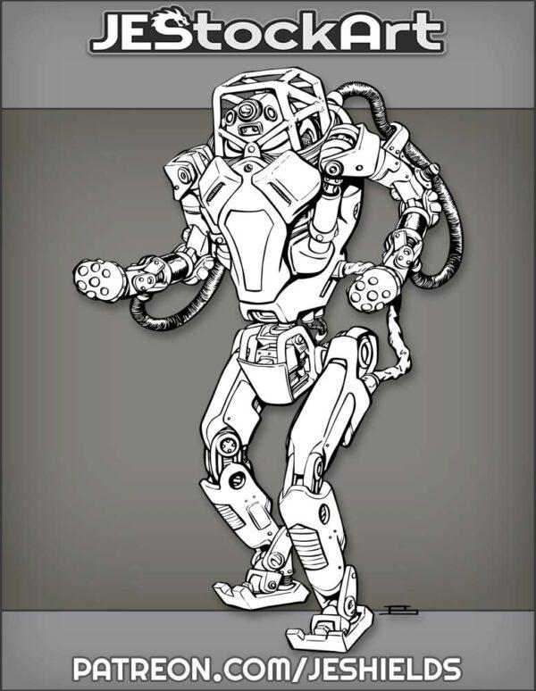 Humanoid Dynamic Robotics Droid by Jeshields