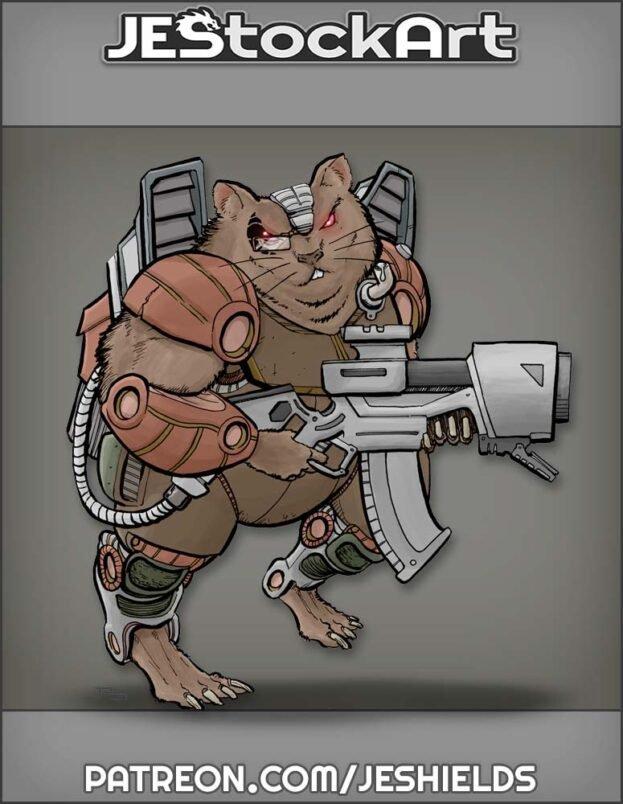 Mercenary Space Hamster by Jeshields
