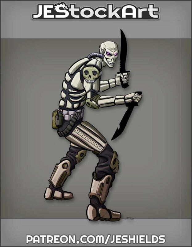 Mercenary in Skeletal Armor by Jeshields