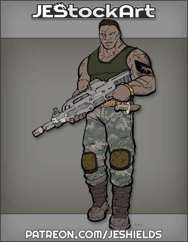 Nirka Militant With Rifle by Jeshields