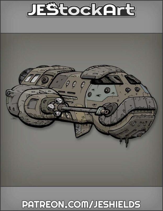 Oblong Space Cruiser Spahn by Jeshields