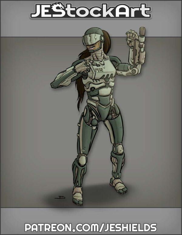 Robot Police Woman by Jeshields