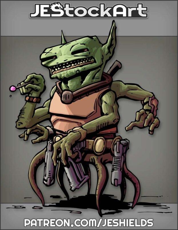Trigger Happy Alien With Lollipop by Jeshields