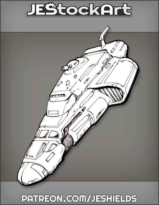 Wayfarer Space Craftwith Turret by Jeshields