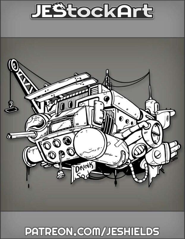 Junkyard Space Craft Made From Random Parts by Jeshields
