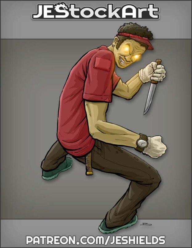 Possessed Sandwich Artist with Knife by Jeshields