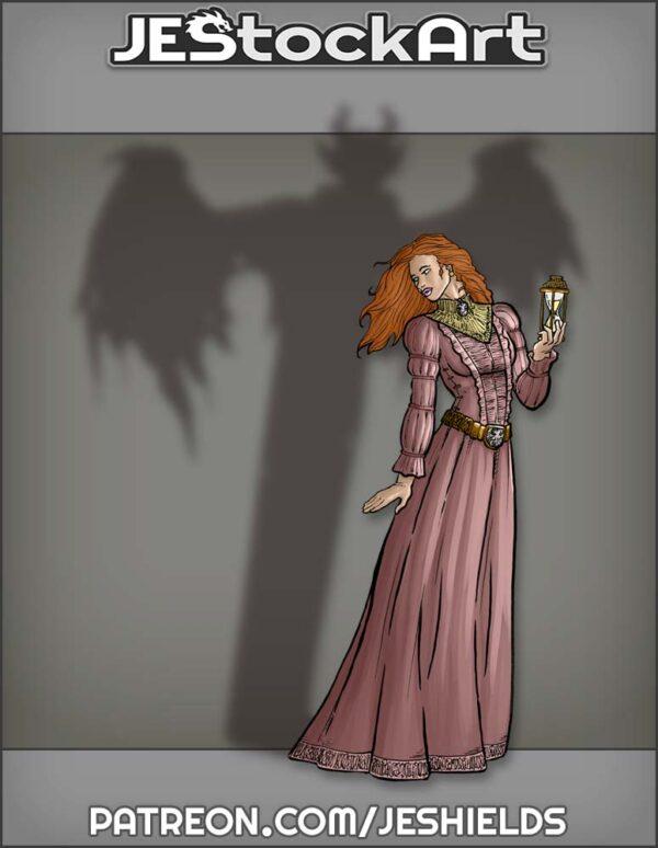 Young Woman with Gargoyle Secret by Jeshields