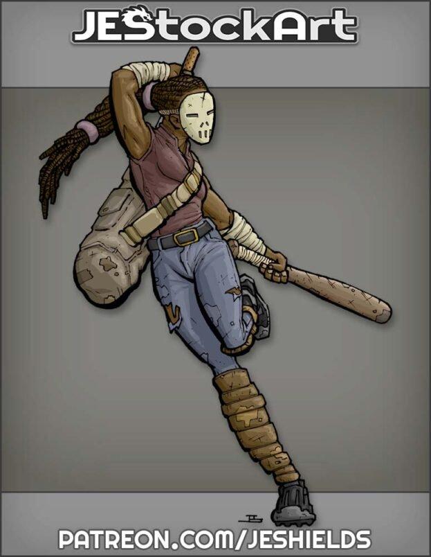 Black Female Vigilante Athlete by Jeshields