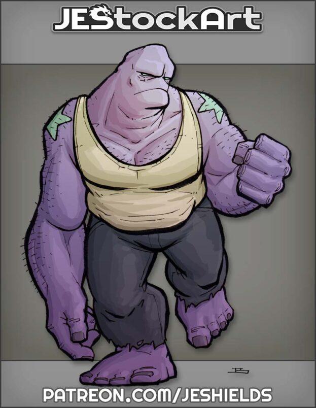 Bulky Purple Brute In Tank Top by Jeshields
