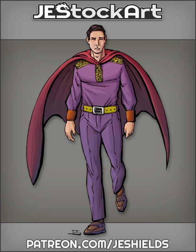 Caped Gentleman In Purple Attire by Jeshields