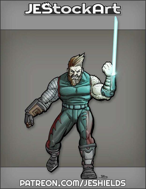 Cybernetic Hero with Energy Claw by Jeshields
