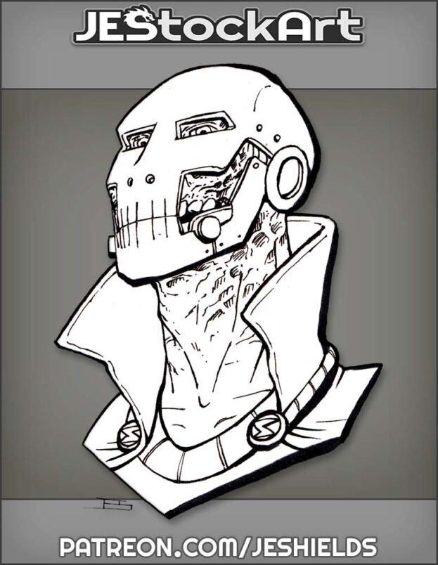 Doom Like Villain Bust by Jeshields
