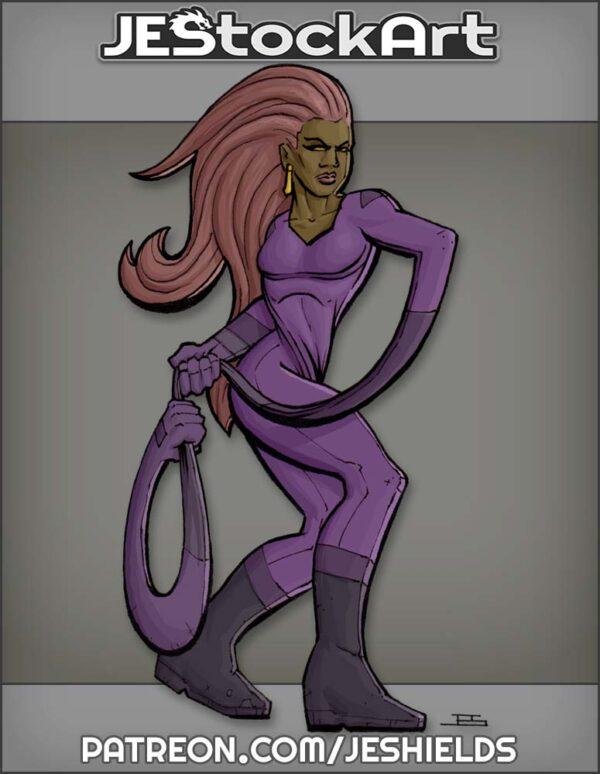 Elastic Woman with Lasso Arm by Jeshields