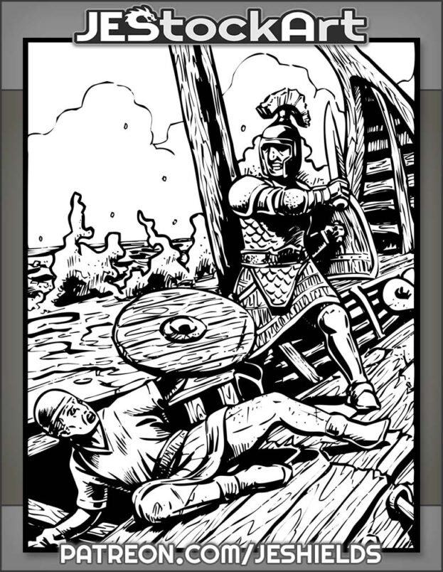 Roman Vs Carthaginian On Sinking Ship by Jeshields