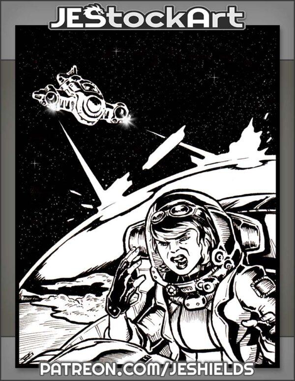 Space Pilot Under Attack In Interstellar Dogfight by Jeshields