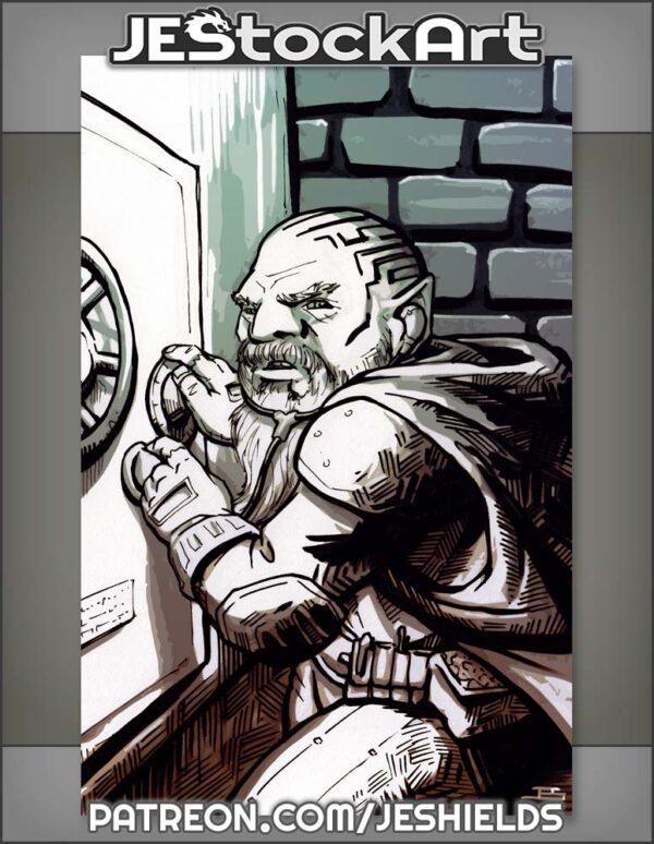 Sketchy Dwarven Rogue Cracking A Safe by Jeshields