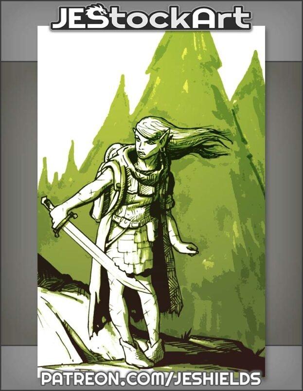 Sketchy Half Elven Explorer by Jeshields