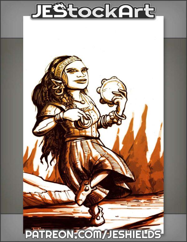 Sketchy Halfing Gypsy Dancer by Jeshields