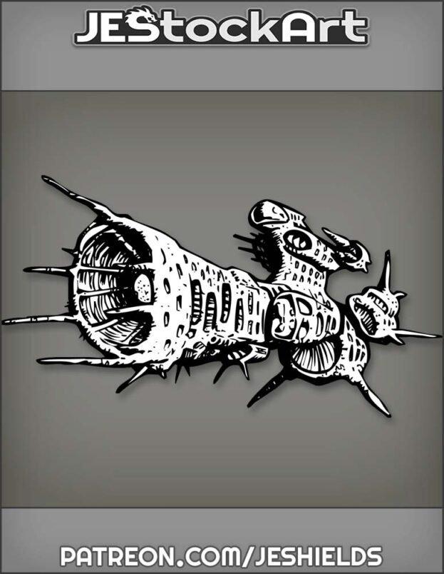 Alien Bio Craft Destroyer by Jeshields