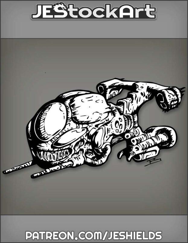 Alien Bio Craft Fighter by Jeshields