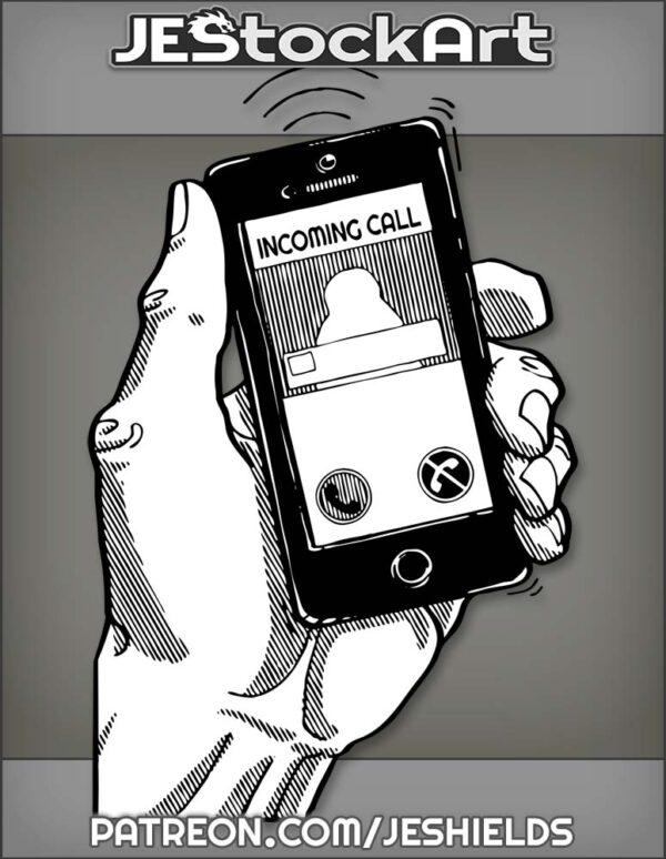MobileCellPhoneRingingInOlderHand by Jeshields