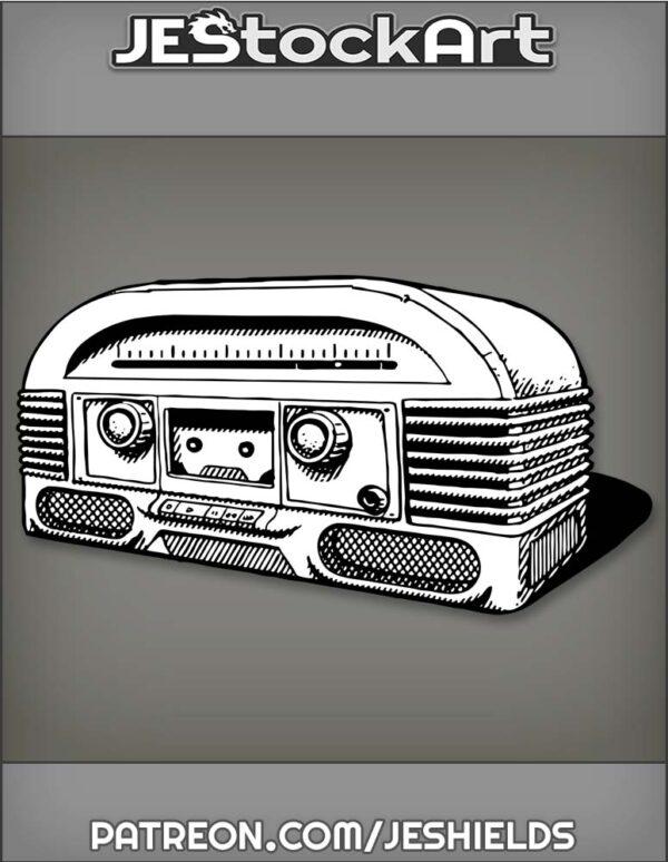RadioBoxWithDialsAndDoubleSpeakers by Jeshields