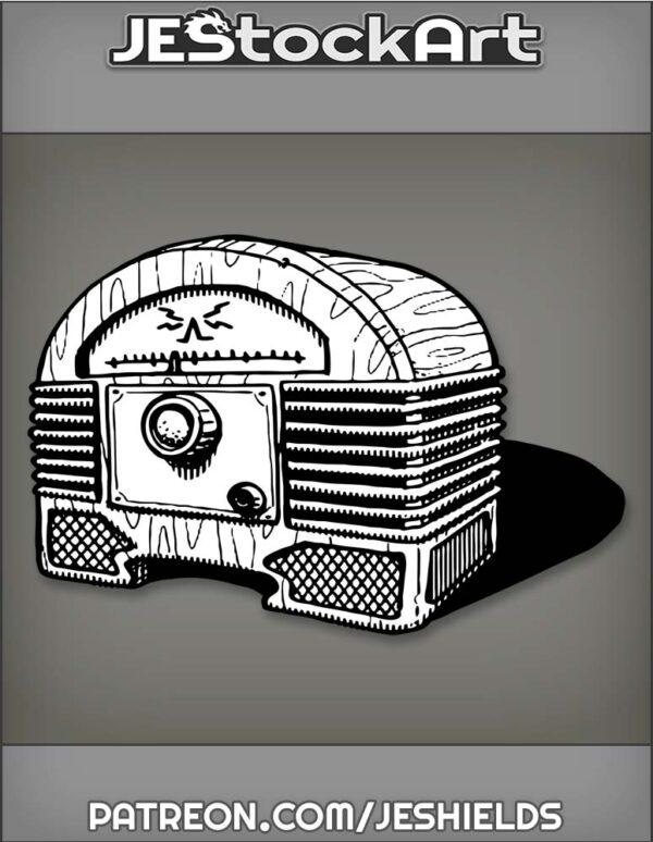 RadioBoxWithDialsAndVerticalSpeakersInOldStyle by Jeshields