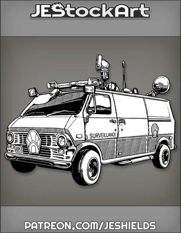 SurveillanceVanWithSlidingSideDoorAndMountedEquipment by Jeshields