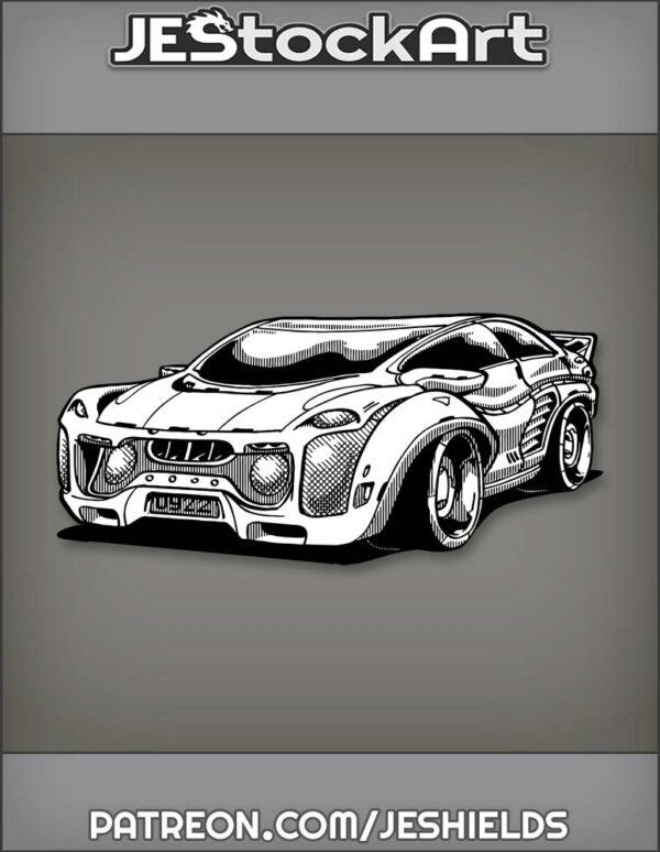 Futuristic Cyberpunk Sports Car by Jeshields