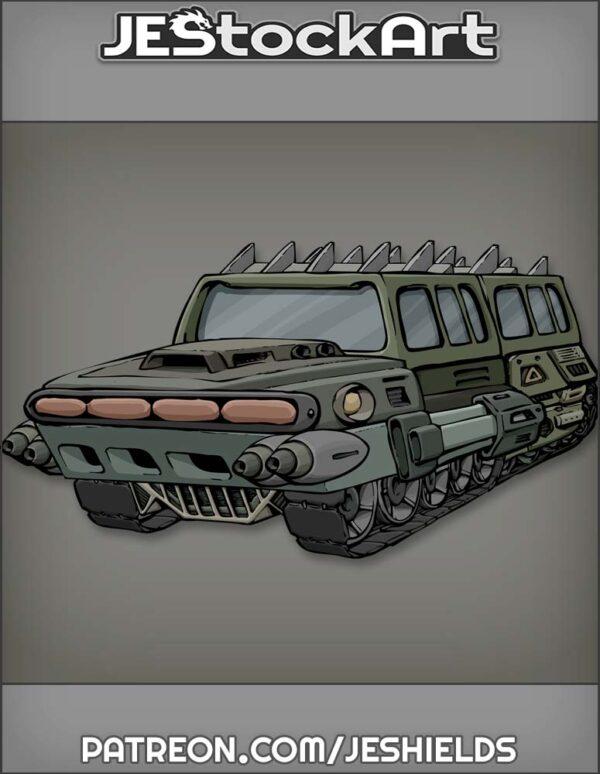 Futuristic Vehicle with Advanced Tech 001 by Jeshields
