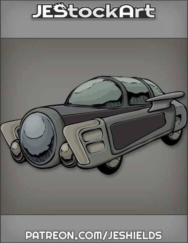 Futuristic Vehicle with Advanced Tech 002 by Jeshields