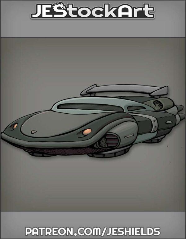 Futuristic Vehicle with Advanced Tech 006 by Jeshields
