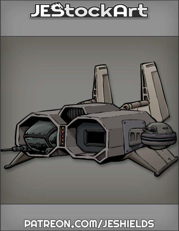 Futuristic Vehicle with Advanced Tech 008 by Jeshields
