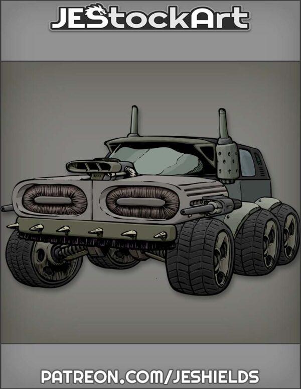 Futuristic Vehicle with Advanced Tech 010 by Jeshields