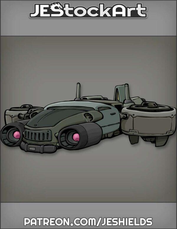 Futuristic Vehicle with Advanced Tech 013 by Jeshields