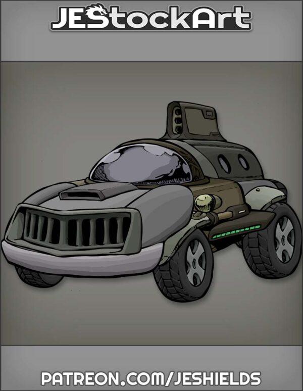 Futuristic Vehicle with Advanced Tech 014 by Jeshields