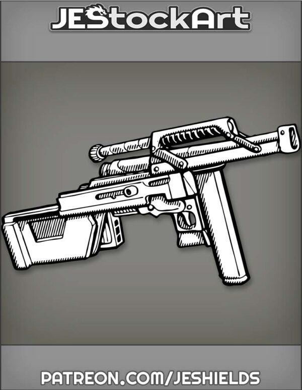 Loaded Convertible Machine Gun That Transforms by Jeshields