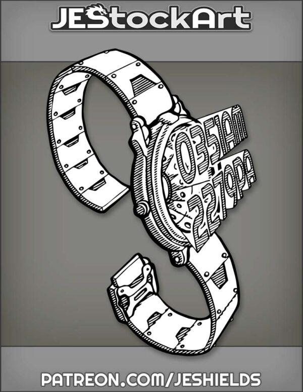 WristWatchWithHolographicDisplayAndMetalBand by Jeshields