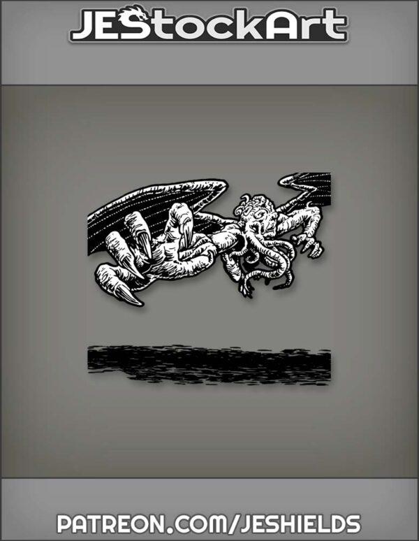 Lovecraft Cthulhu Flies toward Viewer by Jeshields