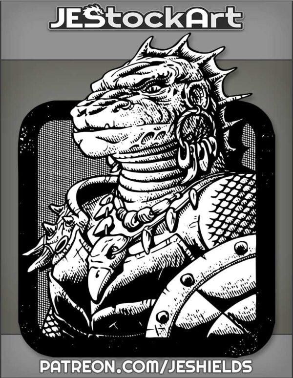 Reptilian Lizard Woman with Shield by Jeshields